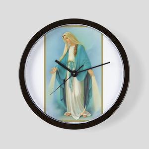 Virgin Mary Wall Clock