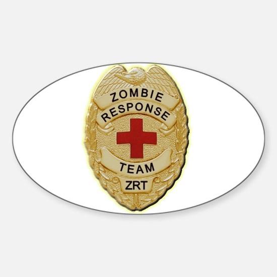 Zombie Response Team Badge Decal