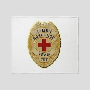 Zombie Response Team Badge Throw Blanket