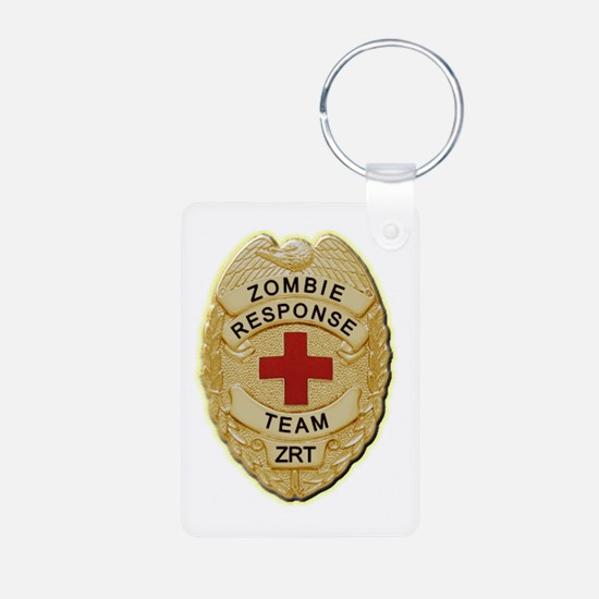Zombie Response Team Badge Keychains