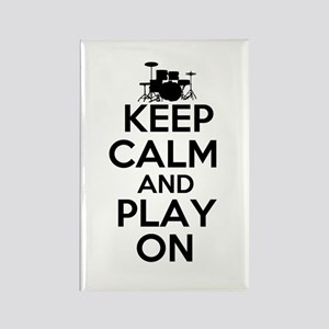 Keep Calm and Play On Rectangle Magnet
