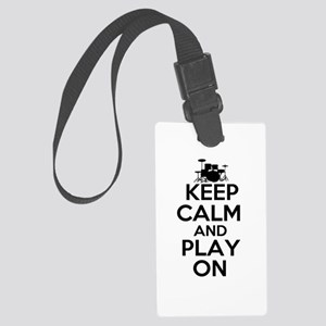 Keep Calm and Play On Luggage Tag