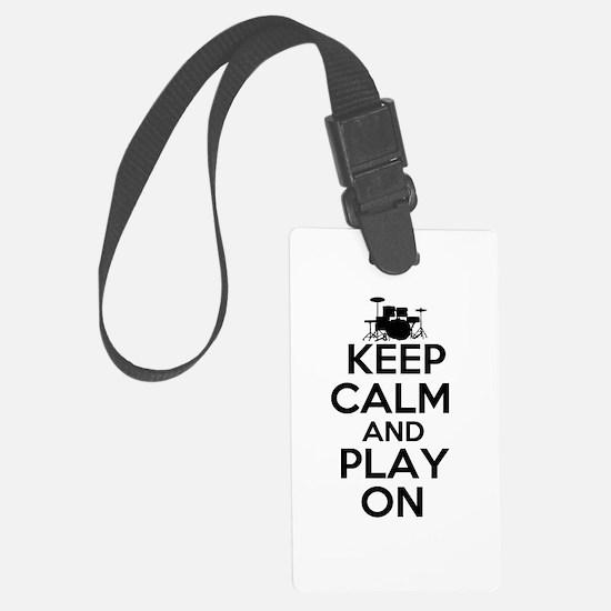 Keep Calm and Play On Luggage Tag