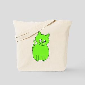 Green Cat. Tote Bag