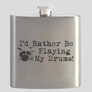 Id Rather Be Playing My Drums Flask