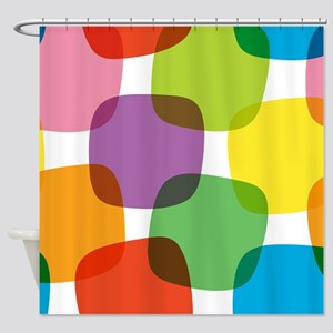 Colorful Retro Pattern Shower Curtain