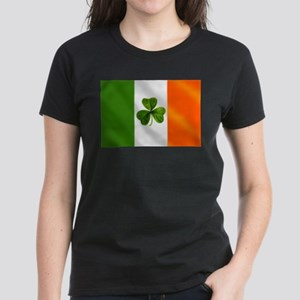 Irish Shamrock Flag Women's Dark T-Shirt