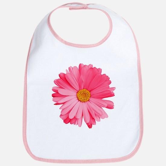 Pink Daisy Flower Bib