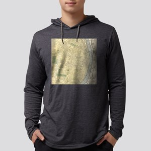 Vintage Map of St. Louis (1891) Mens Hooded Shirt