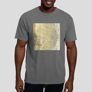 Vintage Map of St. Louis Mens Comfort Colors Shirt