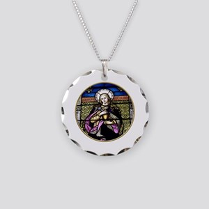 St. Mary Magdalene Stained Glass Window Necklace C