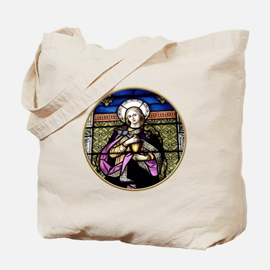 St. Mary Magdalene Stained Glass Window Tote Bag