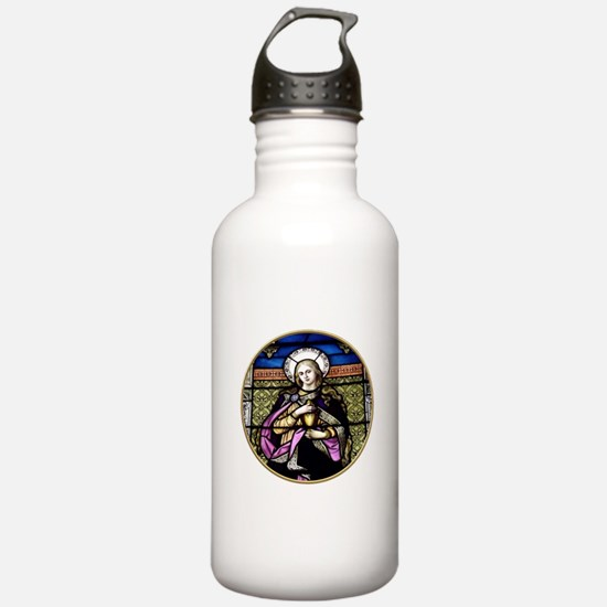 St. Mary Magdalene Stained Glass Window Water Bottle