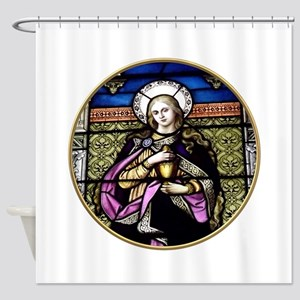 St. Mary Magdalene Stained Glass Window Shower Cur