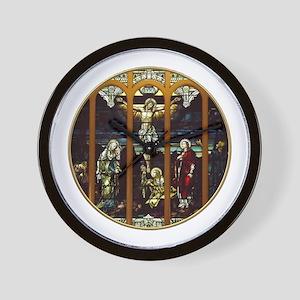 Crucifixion of Jesus Christ Stained Glass Window W