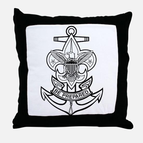 Sea Scout First Class Anchor Throw Pillow