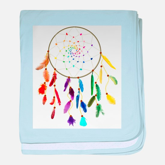 Rainbow DreamCatcher baby blanket