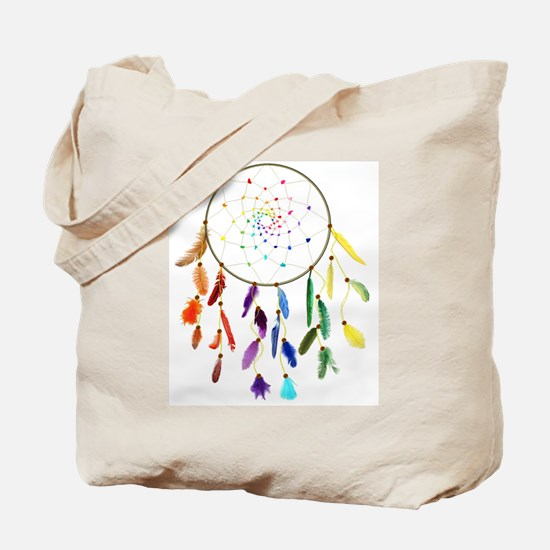 Rainbow DreamCatcher Tote Bag