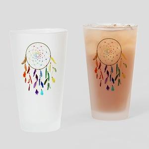 Rainbow DreamCatcher Drinking Glass