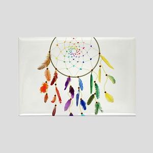 Rainbow DreamCatcher Rectangle Magnet