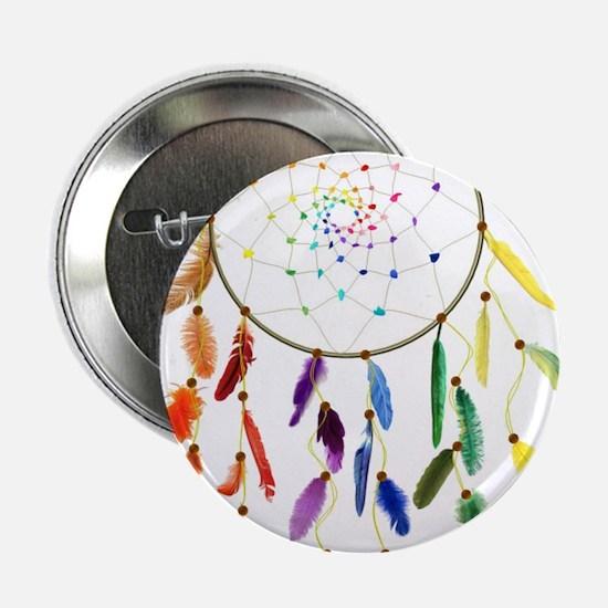 """Rainbow DreamCatcher 2.25"""" Button"""