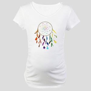 Rainbow DreamCatcher Maternity T-Shirt
