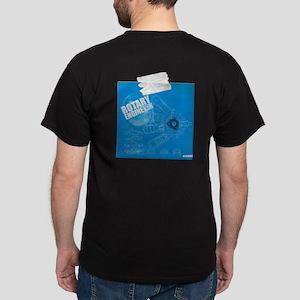 Rotary Engine Blue Print Dark T-Shirt