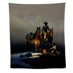 Cowboys And Horses Wall Tapestry