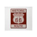 Bagdad Route 66 Throw Blanket
