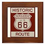 Bagdad Route 66 Framed Tile