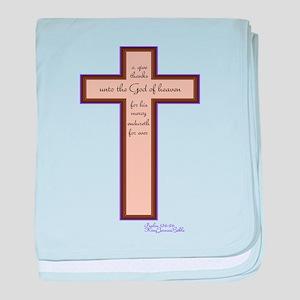 Psalm 136 26 Bible Verse baby blanket
