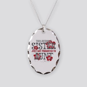 Promoted Aunt Necklace Oval Charm
