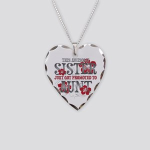 Promoted Aunt Necklace Heart Charm