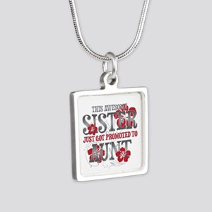 Promoted Aunt Silver Square Necklace