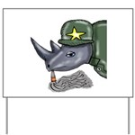 Sarge Rhino Yard Sign