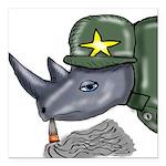 Sarge Rhino Square Car Magnet 3
