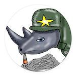 Sarge Rhino Round Car Magnet
