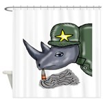 Sarge Rhino Shower Curtain