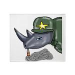 Sarge Rhino Throw Blanket