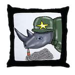 Sarge Rhino Throw Pillow