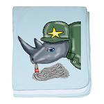 Sarge Rhino baby blanket