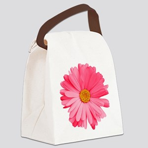 Pink Daisy Flower Canvas Lunch Bag