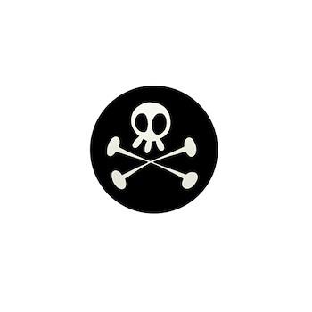 Dr. Pineapple Skull & Crossbones logo button