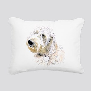 Butters the Labradoodle Rectangular Canvas Pillow