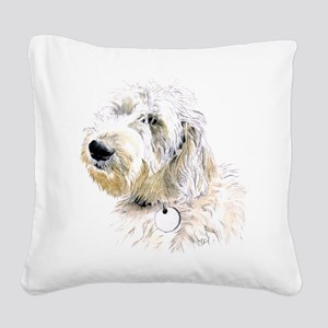 Butters the Labradoodle Square Canvas Pillow
