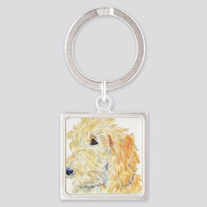 Cream Labradoodle 1 Square Keychain