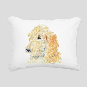 Cream Labradoodle 1 Rectangular Canvas Pillow