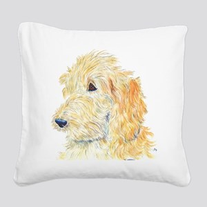 Cream Labradoodle 1 Square Canvas Pillow