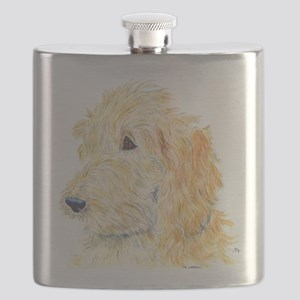 Cream Labradoodle 1 Flask