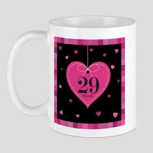 29th Anniversary Heart Mug